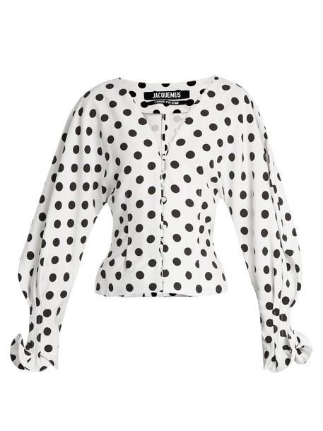 Jacquemus blouse white black top