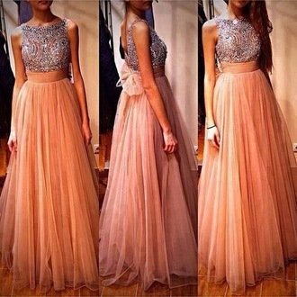 dress pink dress sparkly shiffon