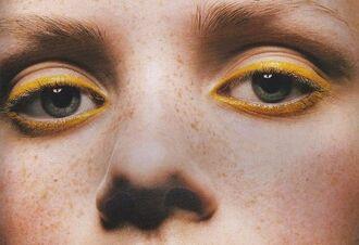 make-up eye makeup face makeup eyeliner yellow spring