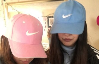 hat nike pink baby pink baby blue blue cap accessories