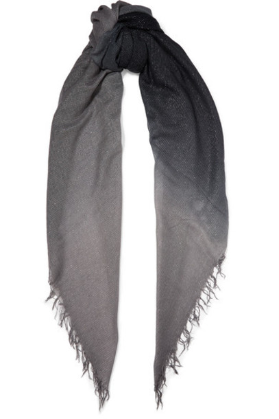 metallic scarf silk