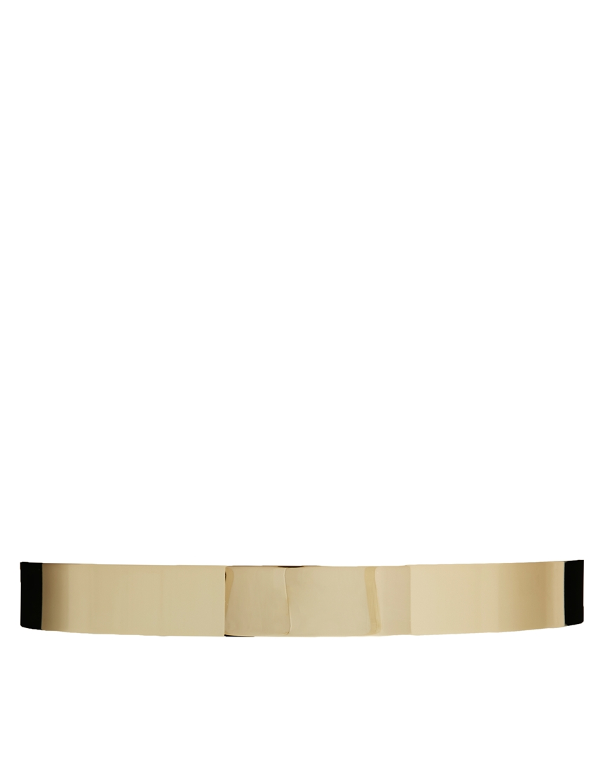 ASOS Full Metal Waist Belt With Fixture Detail at asos.com