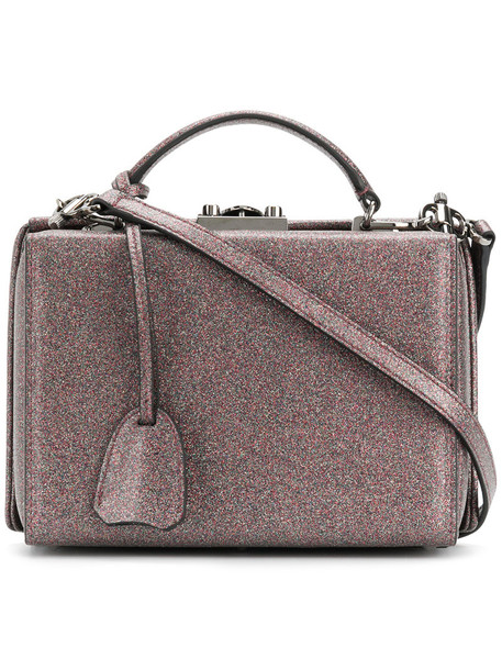 Mark Cross women bag leather grey metallic