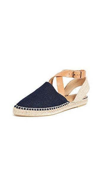 ankle strap espadrilles denim dark shoes