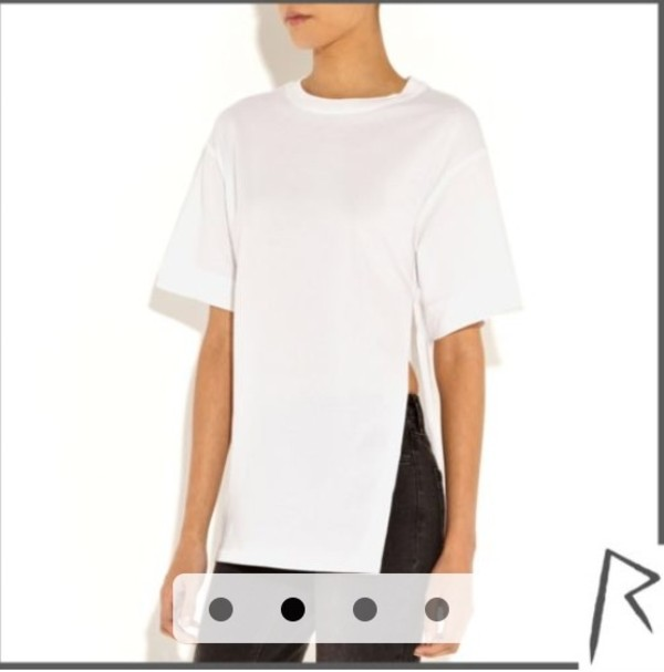 t-shirt slit white