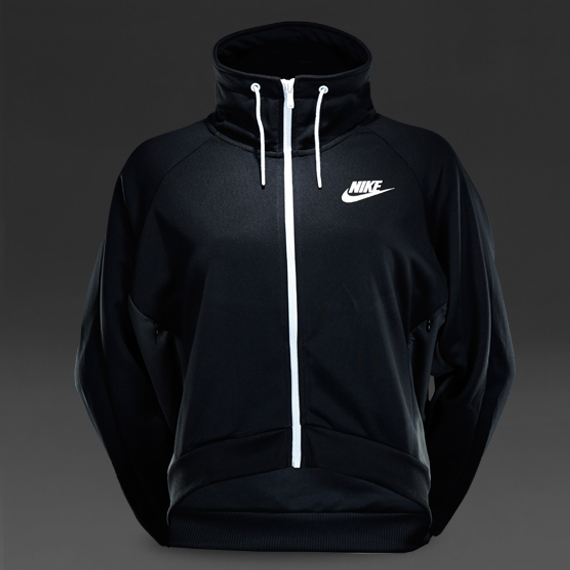 5efd0a2efdb7 Womens Clothing - Nike Womens Sportswear Fearless Jacket - Black Anthracite  Black White