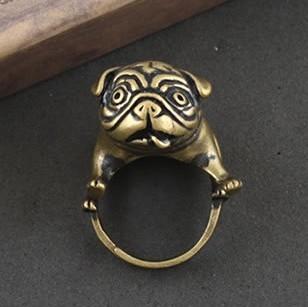 Livraison gratuite, de haute qualité punk bulldog. anneau, bijoux de mode, rétro anneau, bijoux faits main, dans de sur aliexpress.com