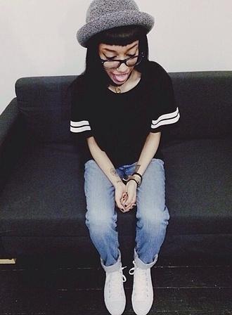 shirt instagram black hipster grunge goth pale white t-shirt jersey tee shirt jeans hat