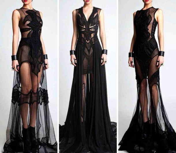 dress black dress see through dress see through dress long dress style