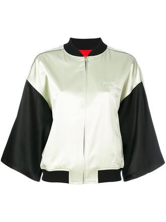 jacket bomber jacket women spandex black silk