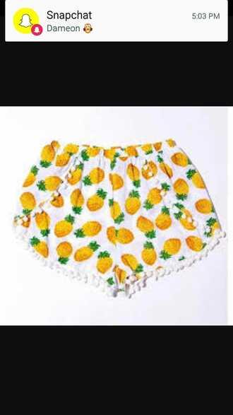 shorts pinapples balls cute