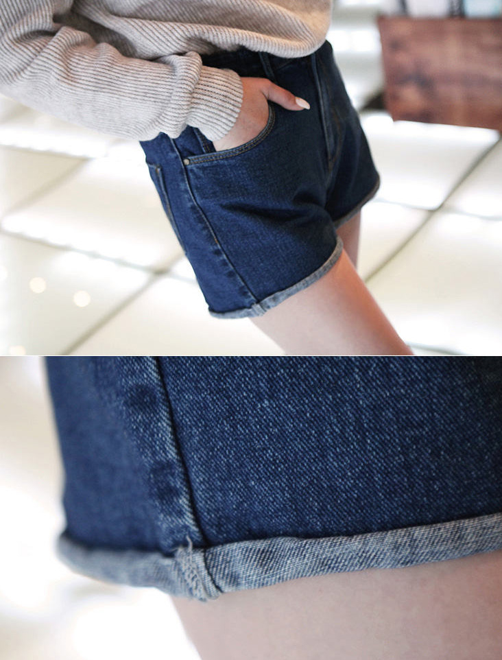 Women Retro Lady's Girls Denim High Waist Flange Blue Jean Shorts Hot Pants | eBay