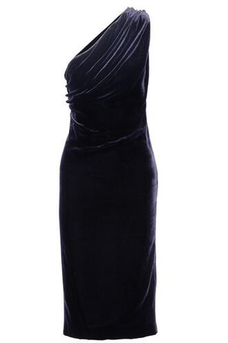 dress velvet dress blue velvet