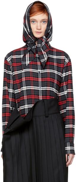 Balenciaga shirt grey red top