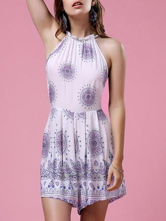 romper white summer boho cool style spring ethnic festival open back backless fashion dressfo