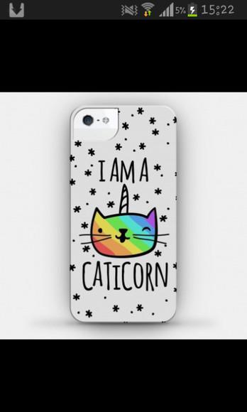 rainbow phone case cats unicorn caticorn phone case cover phone case star