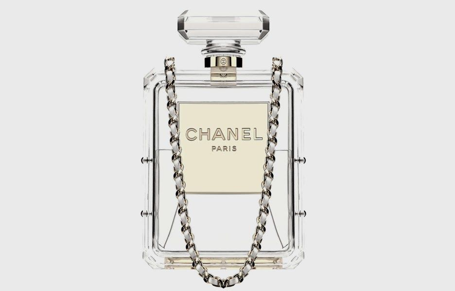 Chanel Clear Plexiglass No 5 Perfume Bottle Clutch Handbag Runway | eBay