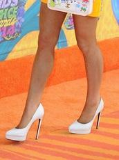shoes,ariana grande,white,high heels,long