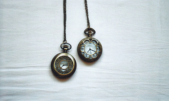 jewels watch necklace pocket watch clock white number metal
