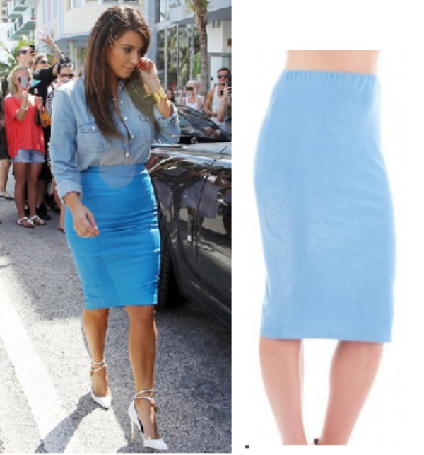 Bodycon Jean Skirt - Dress Ala