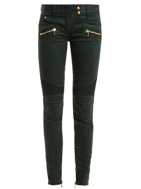 Balmain jeans dark green