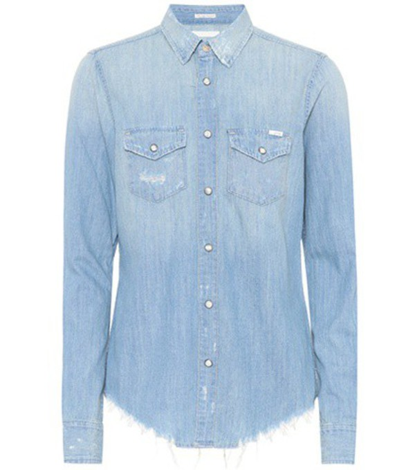 Mother The Honey Chew denim shirt in blue