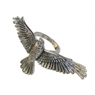 gloves birds birdy beautifull cute cool silver ring silver pinky blue really cool style rings and tings