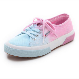 Superga 2750-Cotw Fabric 13 Shoes - White-Azul | Free UK Delivery