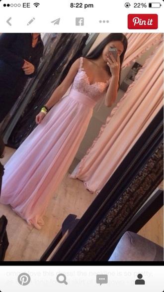 dress v neck pink lace prom dress pink dress lace dress