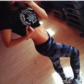 pants,workout,grey,running,tights,navy,camouflage,leggings,workout leggings