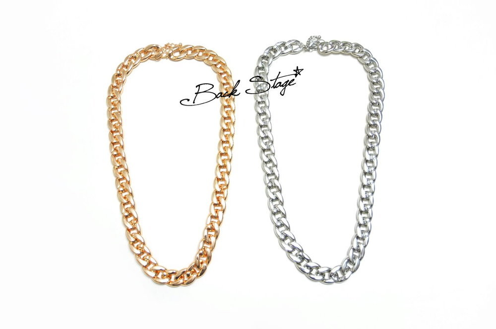 2 Colors Extra Size Chain Long Link Necklace | Back Stage*