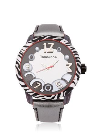 zebra animal watch white black jewels