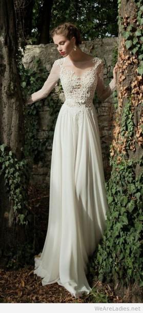 dress wedding dress lace top wedding dress