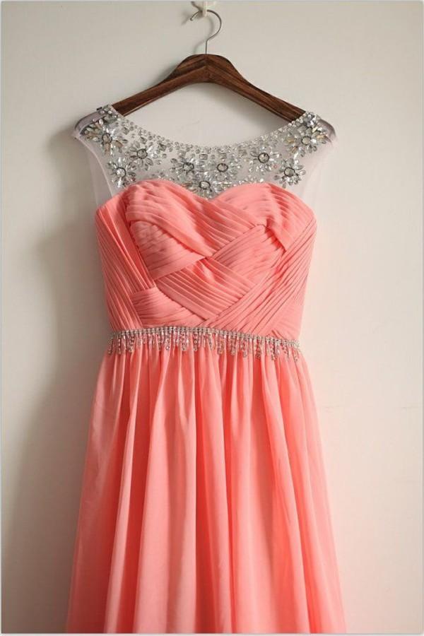 coral fashion prom dress homecoming dress homecoming dress coral dress coral maxi skirt