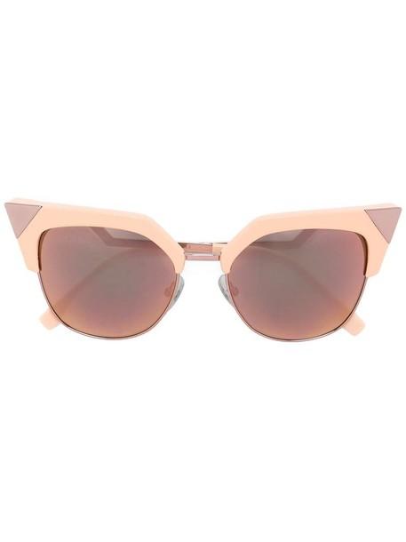 Fendi Eyewear metal women sunglasses purple pink