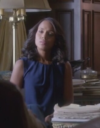 blouse olivia pope scandal navy silk kerry washington pleated