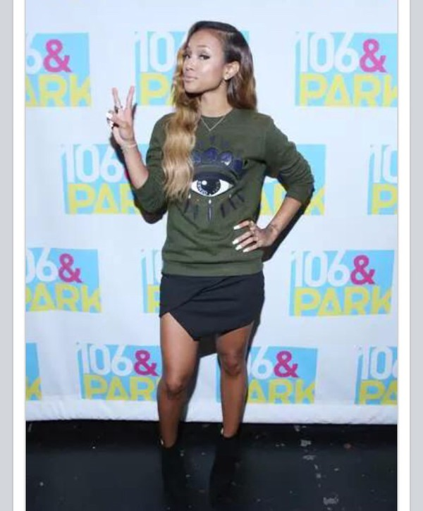 sweater skirt criss crossed black skirt karrueche