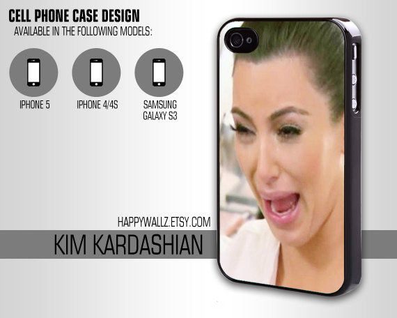 finest selection 9bdb3 6b36f Iphone case Kim kardashian Crying Ugly Iphone 4 case cool awesome Iphone 4s  case funny cry