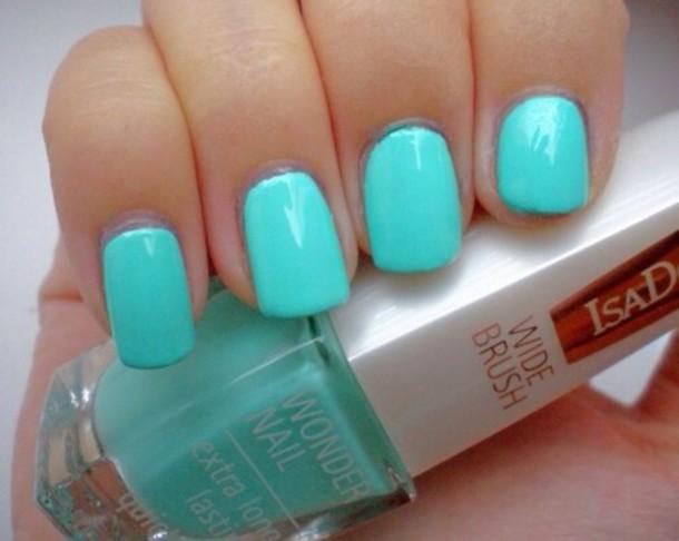Nail Polish Turquoise Nails