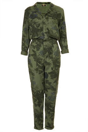 Tropical Floral Boilersuit - Topshop USA