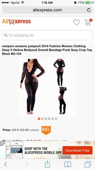 jumpsuit black cut out