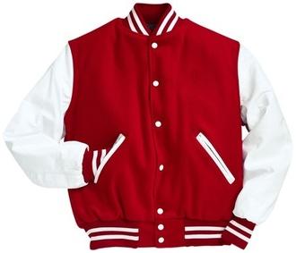 white jacket varsity guys red varsity jacket