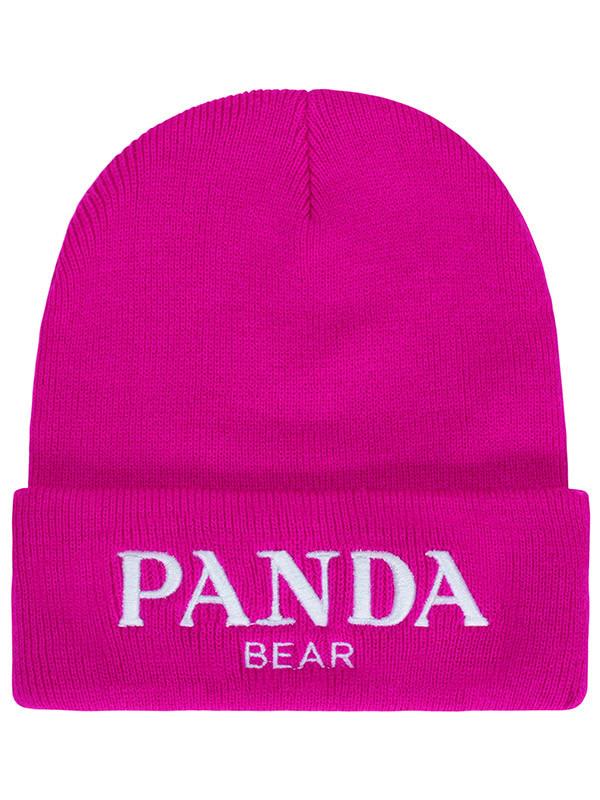 hat pink panda panda bear panda beanie panda hat prada gucci beanie beanie hot pink fuchsia