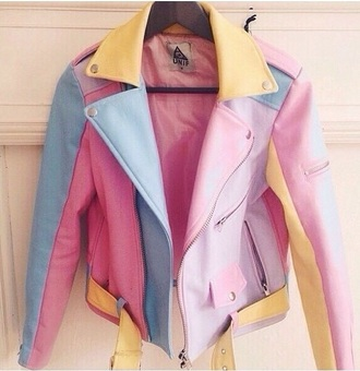jacket 90s style colorful pastel
