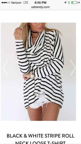 sweater black and white stripped
