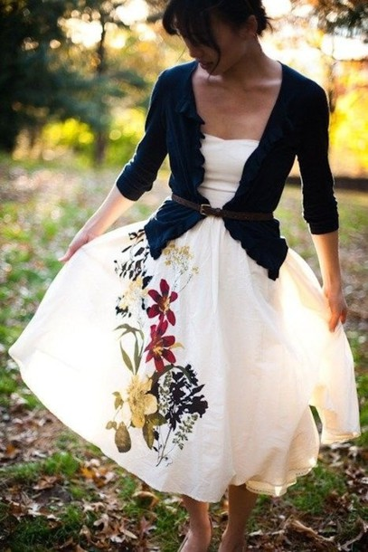 dress clothes summer summer dress floral floral white dress white floral short dress floral dress cardigan navy cardigan belt calf length dress sweetheart neckline white flowers pinterest withe spring party dress maxi dress flowy