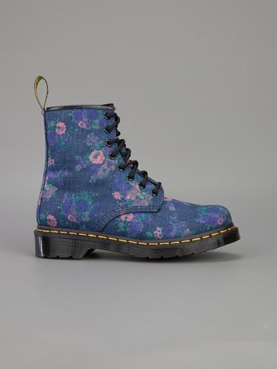 Dr. Martens Floral Print Boot - Bernardelli - Farfetch.com