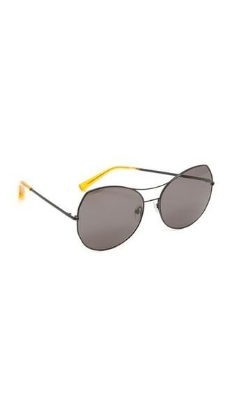 shiny smoke sunglasses black
