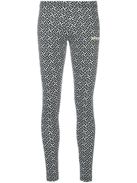 leggings women spandex white cotton print pants