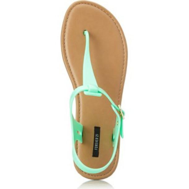 shoes neon sandals turquoise light blue summer shoes mint mint shoes flats  flats flat sandals pastel 1c00d3c6e7